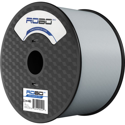 ROBO 3D 1.75mm ABS Filament (1kg, Silver)