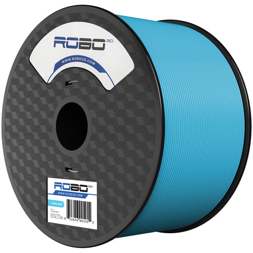 ROBO 3D 1.75mm PLA Filament (1kg, Coral Blue)