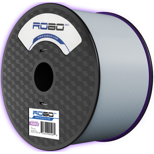 ROBO 3D 1.75mm PLA Filament (1kg, Glow In the Dark Purple)