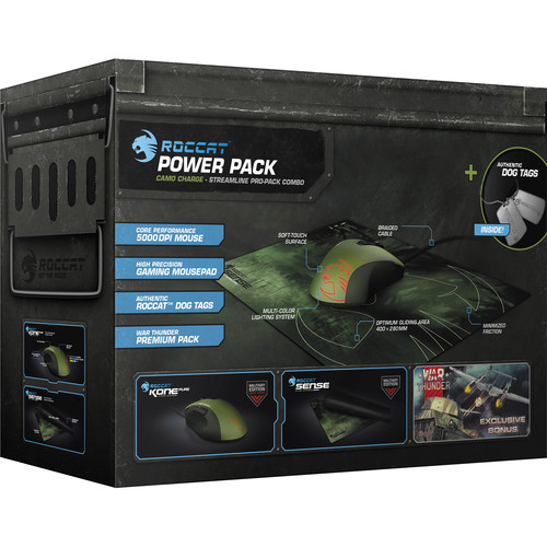 ROCCAT Kone Pure Military Gaming Mouse and Sense Mousepad (Camo Charge)