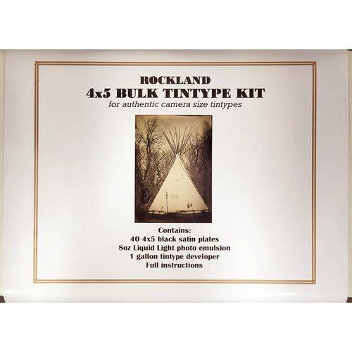 "Rockland Bulk Tintype Kit (To Make 40, 4 x 5"" Plates)"