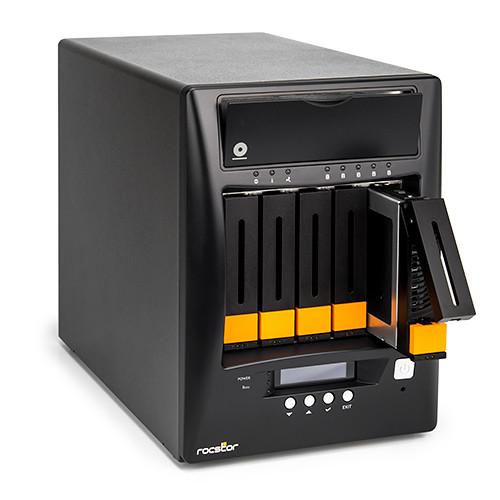 Rocstor Enteroc N56 Desktop NAS Server with Dual Gigabit Ethernet (10TB HDD)