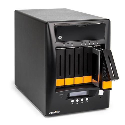 Rocstor Enteroc N56 Desktop NAS Server with Dual Gigabit Ethernet (20TB HDD)
