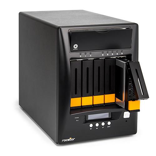 Rocstor Enteroc N56 Desktop NAS Server with Dual Gigabit Ethernet (50TB HDD)