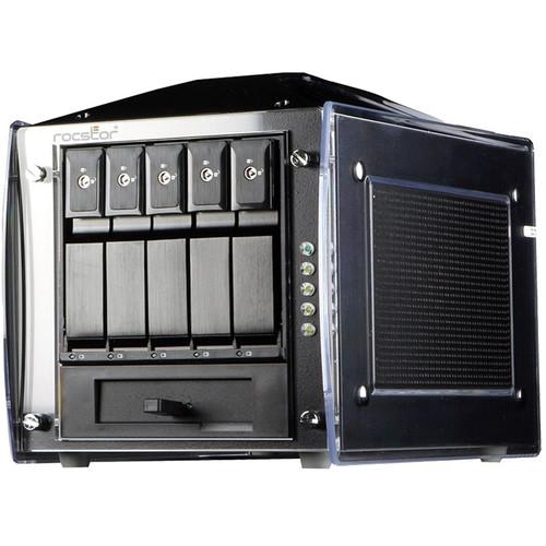 Rocstor Rocsecure DE51 40TB 5-Bay eSATA RAID Array (5 x 8TB)