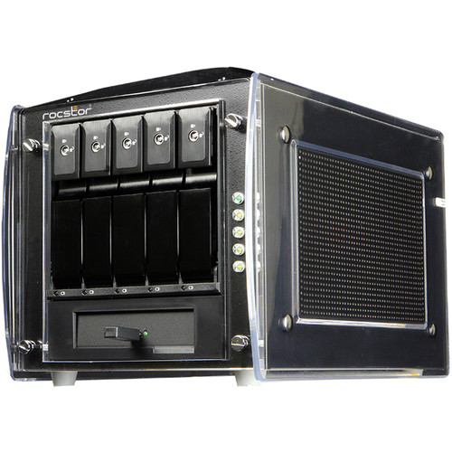 Rocstor Rocsecure DE51 5-Bay Desktop Encryption RAID Storage without Drives