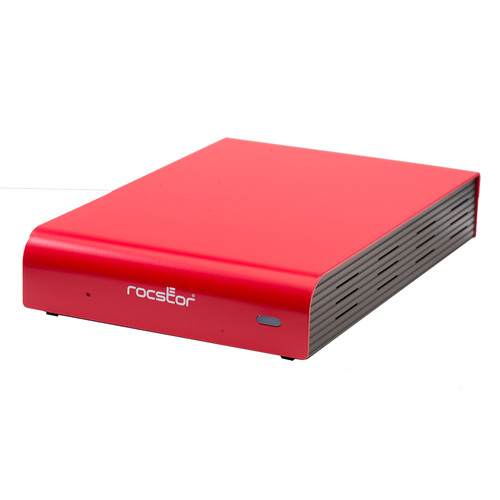 Rocstor 8TB ROCPRO 900e Desktop-Mobile Hard Drive with USB 3.0, FireWire 800, and eSATA Ports (Red)