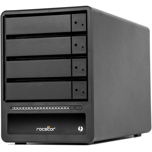 Rocstor Rocpro T34 24TB 4-Bay Thunderbolt 3 RAID Array (4 x 6TB HDDs)