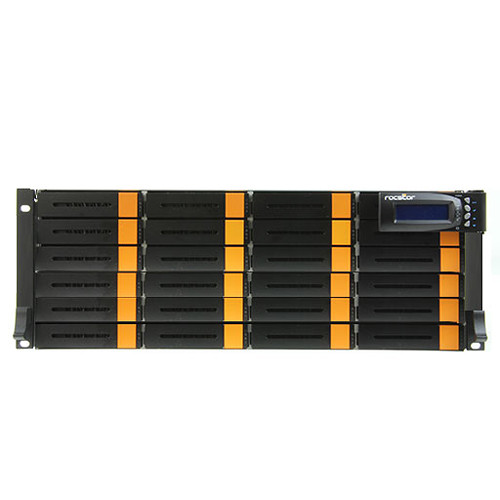 Rocstor Enteroc JS240S 24-Bay NAS Server with 48TB JBOD & Single Controller (3 RU, 7200 rpm)