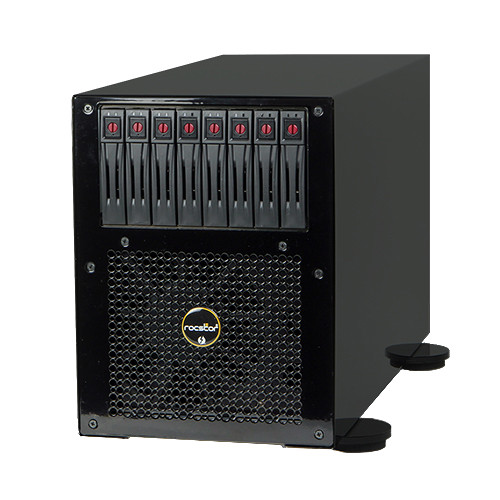 Rocstor Thunderstor XD48 8TB Quad PCIe and 8-Bay Thunderbolt 2 RAID Array (8 x 1TB)