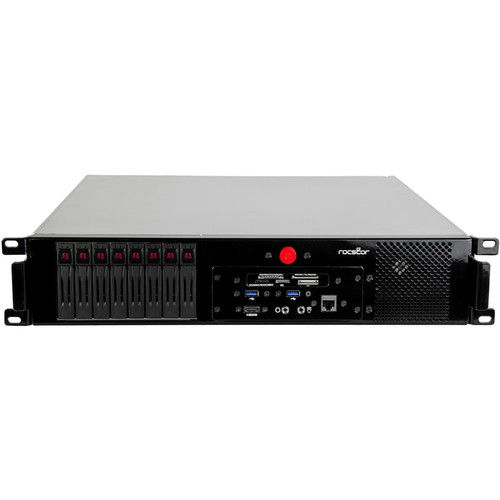 Rocstor Thunderstudio Mini R28 NAS Server with 16TB Mac Mini Rackmount Storage & PCIe Expansion (SSD)