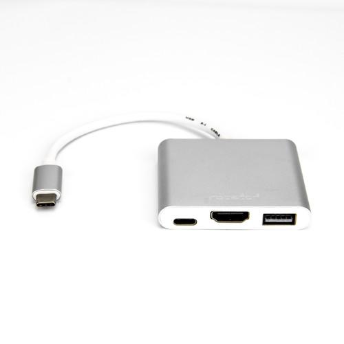 Rocstor USB-C to HDMI Multi-Port Adapter (USB-C to VGA/USB-C (3.1)/USB 3.0 Converter)