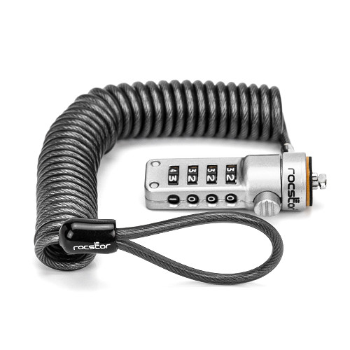 Rocstor Rocbolt Portable Security Cable with Combination Lock (6')