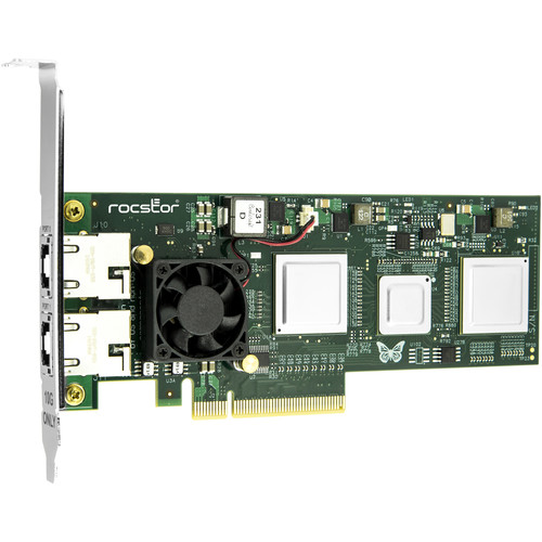 Rocstor Roclink NT12 Dual-Port Mac, Windows & Linux Ethernet Card (10GBASE-T)