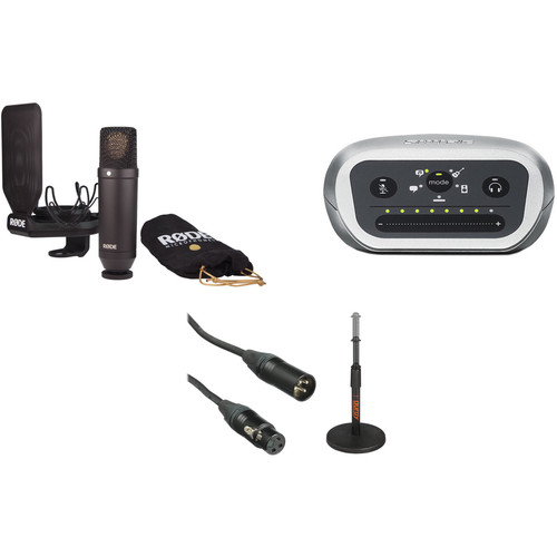 Rode NT1 Recording Studio Microphone and iOS Microphone Preamp Kit