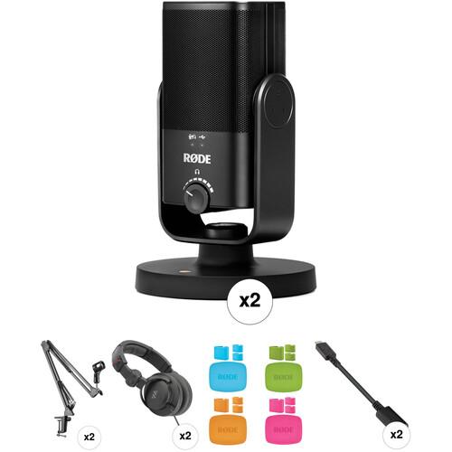 Rode NT-USB Mini 2-Person Podcast Recording Kit