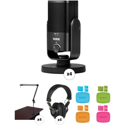 Rode NT-USB Mini Premium 4-Person Podcast Recording Kit