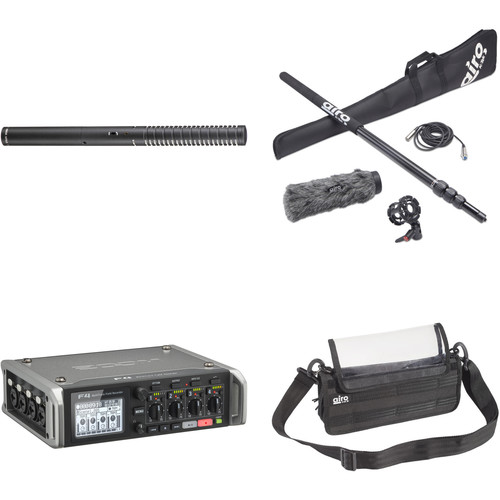Rode NTG2 Shotgun Mic Kit with Zoom F4 Multitrack Recorder, Boompole, Cable, Windscreen, Bag & More