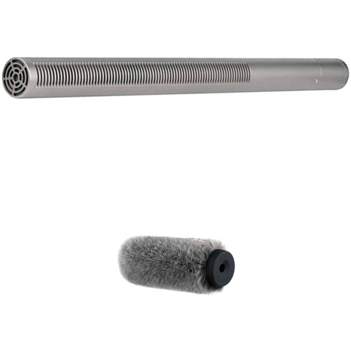 Rode NTG3 RF-Bias Shotgun Microphone and Auray Fur Windshield Kit (Silver)