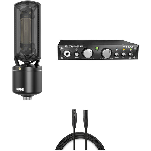 Rode NTR Active Ribbon Microphone and Grace Design M101 Preamp Kit