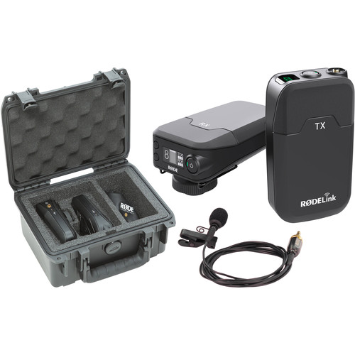 Rode RODELink Filmmaker Kit Digital Camera-Mount Wireless Omni Lavalier Microphone System with Case Kit (2.4 GHz)