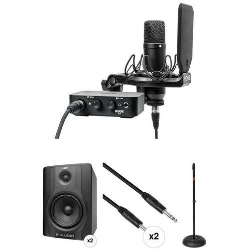 "Rode NT1 Complete Studio Kit with 5"" Studio Monitors"
