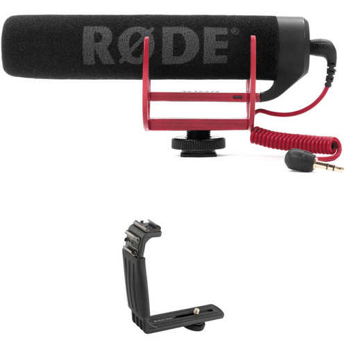 Rode VideoMic GO Lightweight on Camera Mic and Dual Shoe Bracket Kit