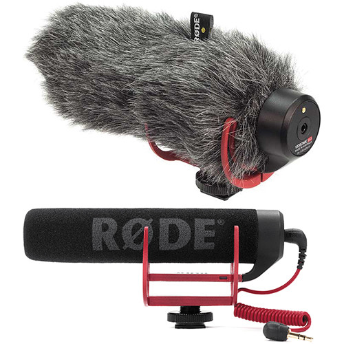 Rode VideoMic GO On-Camera Shotgun Microphone and DeadCat VMP Wind Cover Kit