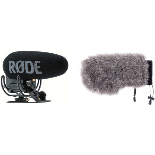 Rode VideoMic Pro+ Camera-Mount Shotgun Microphone Kit with Auray Custom Windshield