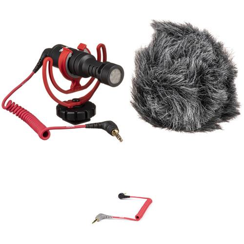 Rode VideoMicro Ultracompact Camera-Mount Shotgun Microphone Kit for Smartphones