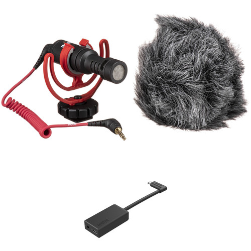 Rode VideoMicro Ultracompact Camera-Mount Shotgun Microphone with GoPro Pro 3.5mm Mic Adapter