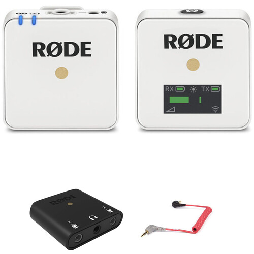 Rode Wireless GO Compact Digital Wireless Microphone System Kit with Lightning Interface (White, 2.4 GHz)