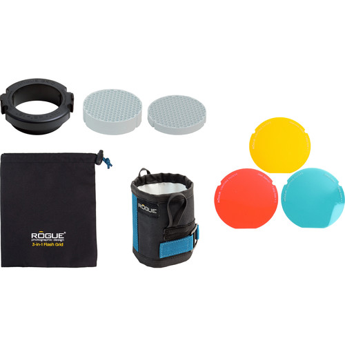 Rogue Photographic Design 3-in-1 Flash Grid with 3-Gel Starter Kit (White Inserts)