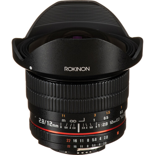 Rokinon 12mm f/2.8 ED AS IF NCS UMC Fisheye Lens for Nikon F Mount with AE Chip