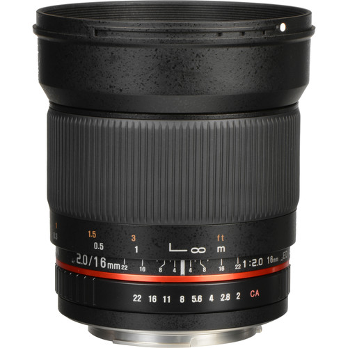 Rokinon 16mm f/2.0 ED AS UMC CS Lens for Canon EF-S Mount