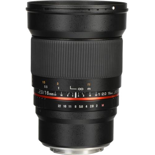 Rokinon 16mm f/2.0 ED AS UMC CS Lens for Canon EF-M Mount