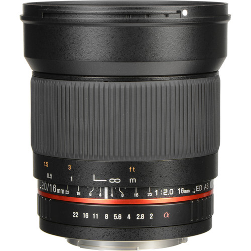 Rokinon 16mm f/2.0 ED AS UMC CS Lens for Sony Alpha APS-C Mount