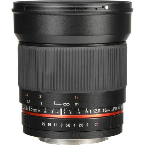 Rokinon 16mm f/2.0 ED AS UMC CS Lens for Sony Alpha APS-C Mount