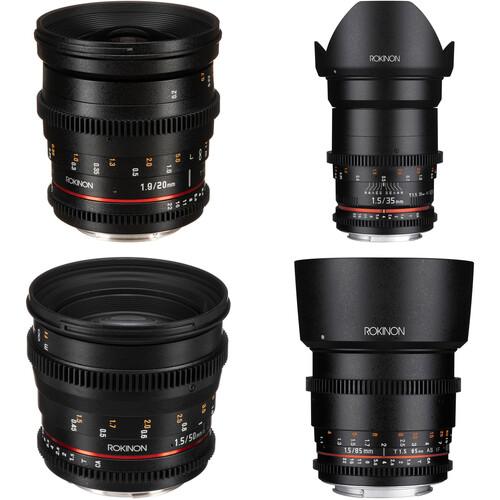Rokinon 20, 35, 50, 85mm Cine DS Lens Bundle (Canon EF Mount)