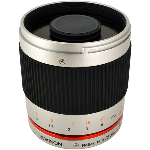 Rokinon Reflex 300mm f/6.3 ED UMC CS Lens for Fujifilm X Mount (Silver)