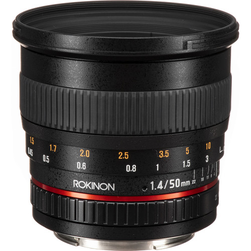 Rokinon 50mm f/1.4 AS IF UMC Lens for Canon EF Mount