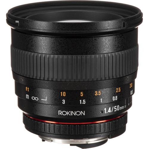 Rokinon 50mm f/1.4 AS IF UMC Lens for Nikon F Mount