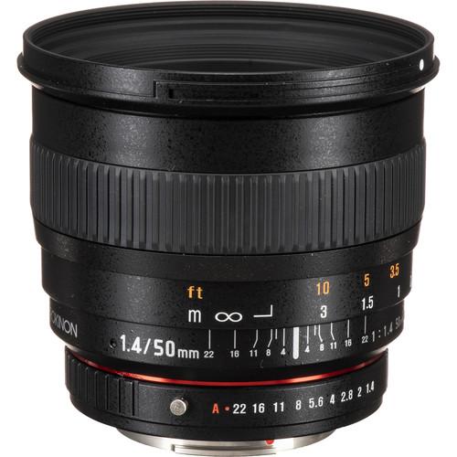 Rokinon 50mm f/1.4 AS IF UMC Lens for Pentax K Mount