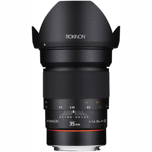 Rokinon 35mm f/1.4 AS UMC Lens for Canon EF (AE Chip)