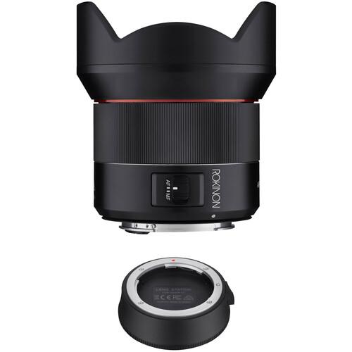 Rokinon AF 14mm f/2.8 Lens with Lens Station Kit for Canon EF