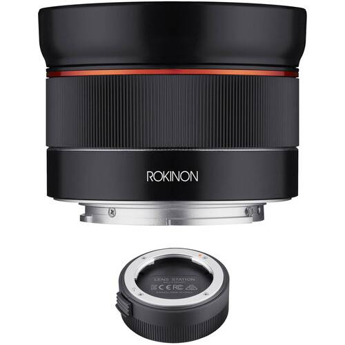 Rokinon AF 24mm f/2.8 FE Lens with Lens Station Kit for Sony E
