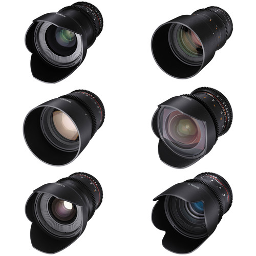 Rokinon Cine DS 6 Lens Kit with Sony A Mount