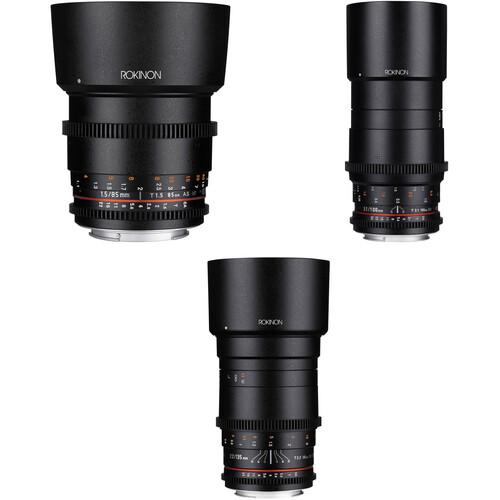 Rokinon Cine DS 85, 100, 135mm Lens Kit (EF Mount)