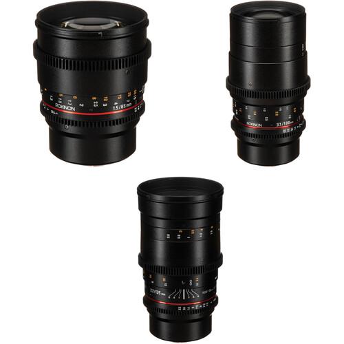 Rokinon Cine DS 85, 100, 135mm Lens Kit (MFT Mount)