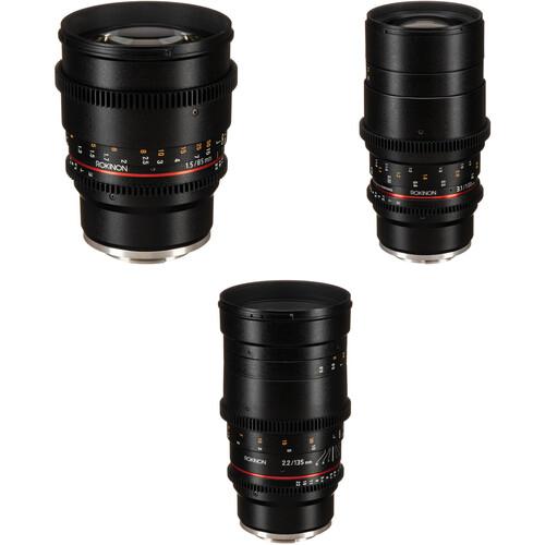 Rokinon Cine DS 85, 100, 135mm Lens Kit (E Mount)
